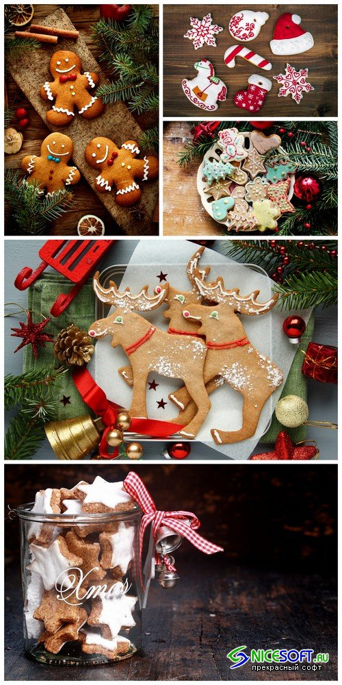 Christmas cookies 1 - 5 UHQ JPEG