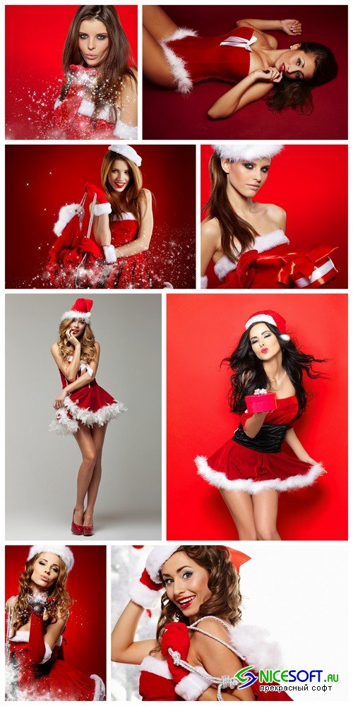 Girl Santa Claus - 8 UHQ JPEG