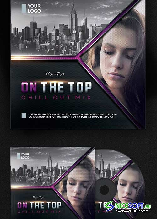 Chillout Mix V3 Premium CD Cover PSD Template