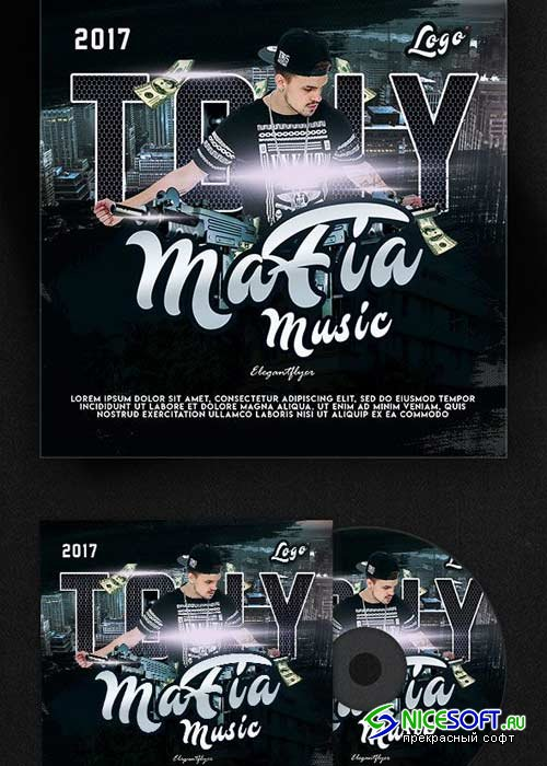 Mafia Music V1 Premium CD Cover PSD Template