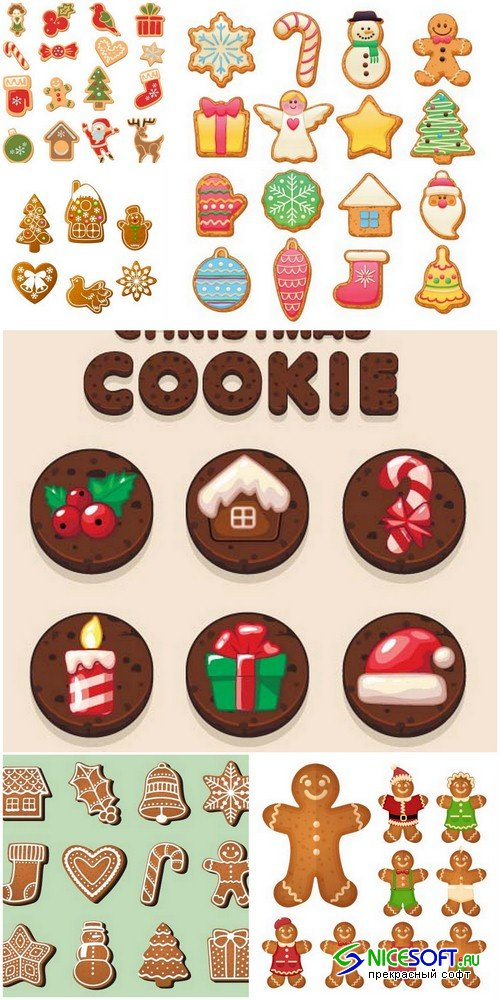 Christmas cookies 2 - 6 EPS
