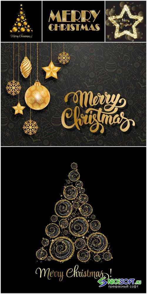 Merry Christmas background 1 - 5 UHQ JPEG