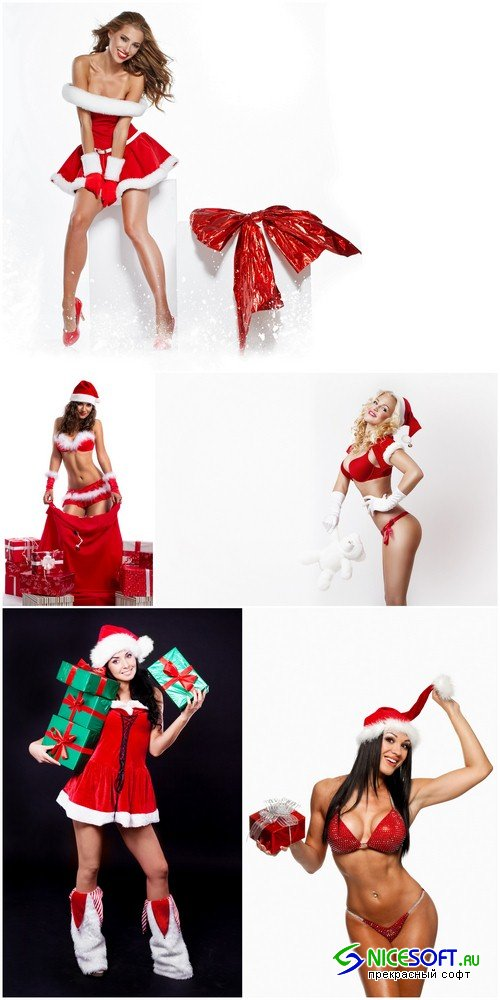 Santa Claus girl 1 - 5 UHQ JPEG
