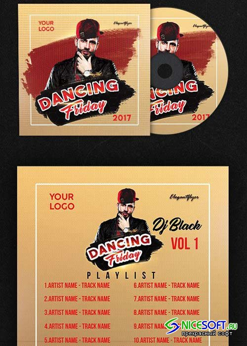 Dancing Friday V5 Premium CD Cover PSD Template