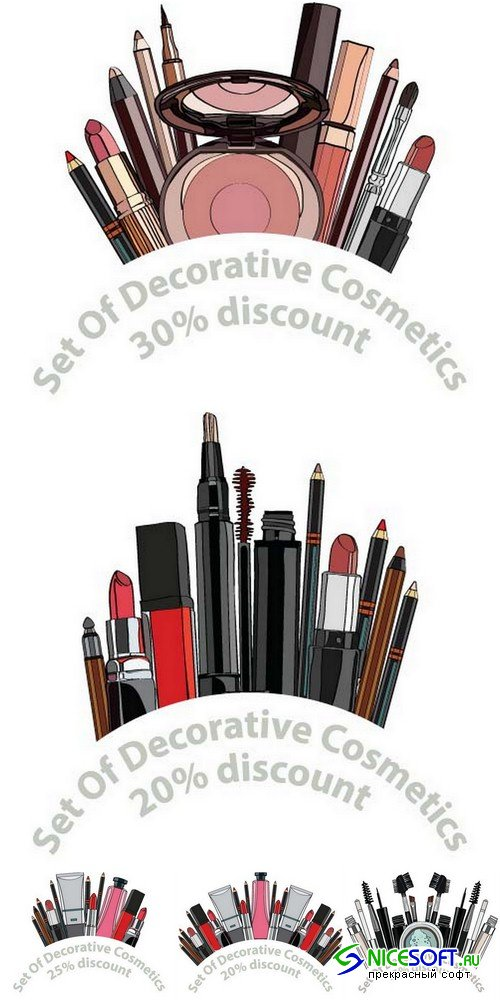 Decorative cosmetics set - 5 EPS