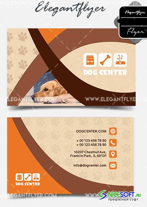 Dog Center V1 2018 Business Card Templates PSD