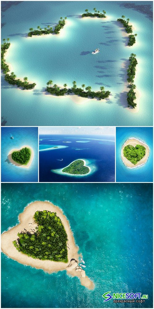 Island in the form of heart - 5 UHQ JPEG