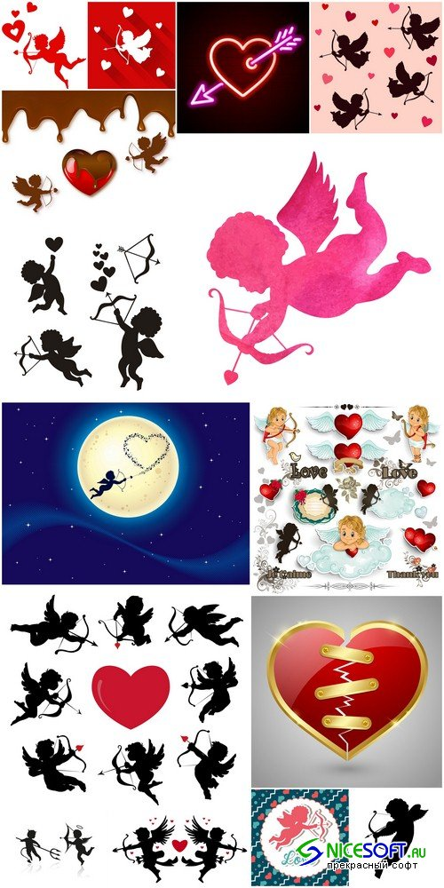 Collection cupids - 15 EPS