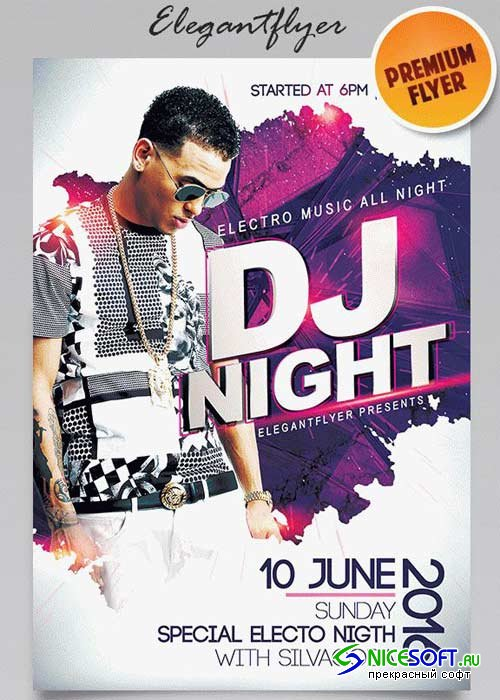 Guest Dj Party V1 2018 Flyer PSD Template + Facebook Cover