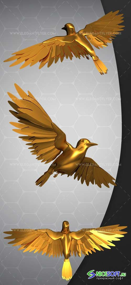 Gold Bird V1 2018 Premium 3d Render Templates