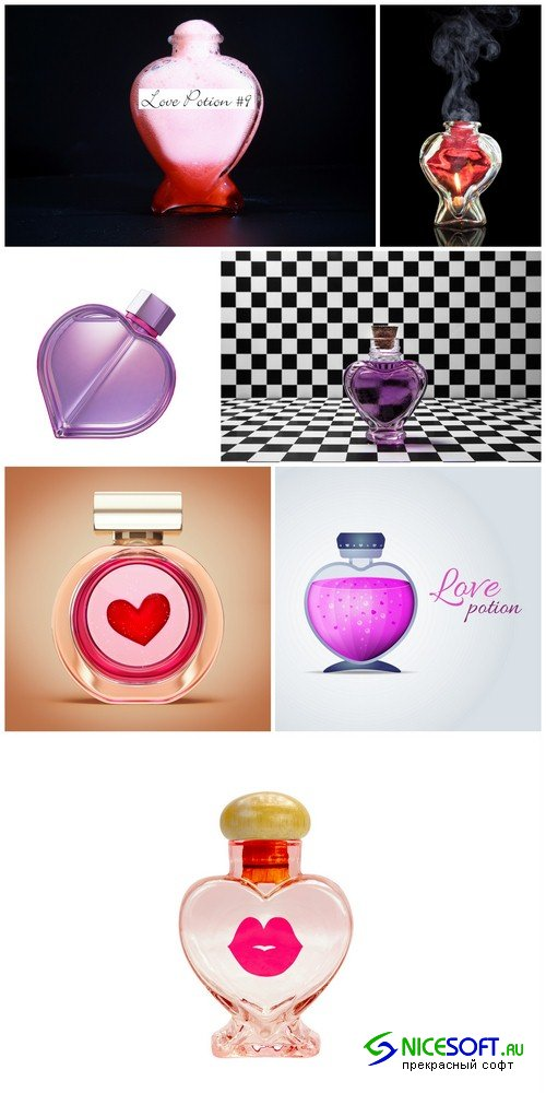 Perfume bottle heart - 7 UHQ JPEG