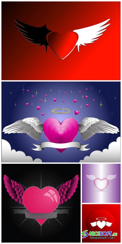 Background with heart 3 - 5 UHQ JPEG