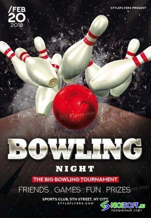 Bowling V2 2018 PSD Flyer Template