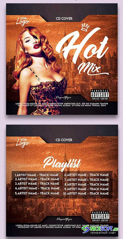 Hot Mix V1 2018 Premium CD Cover PSD Template