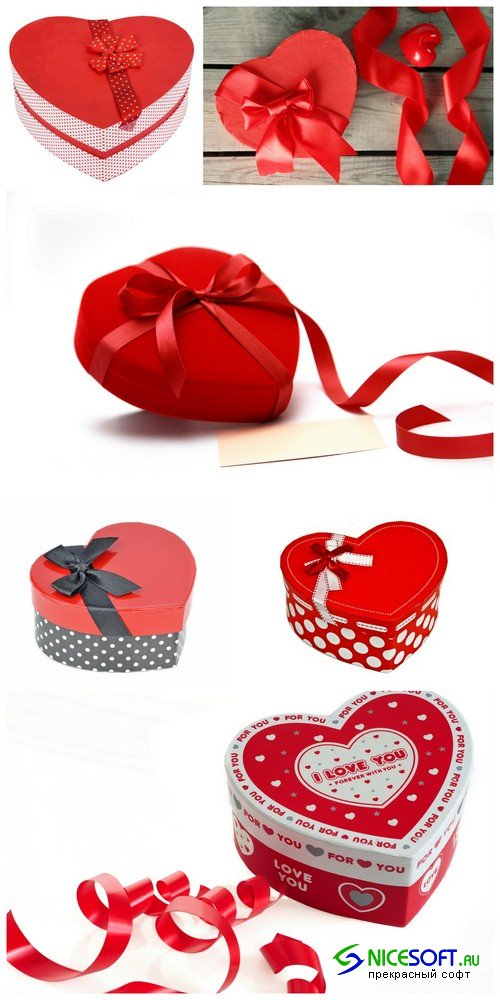Red box heart - 6 UHQ JPEG