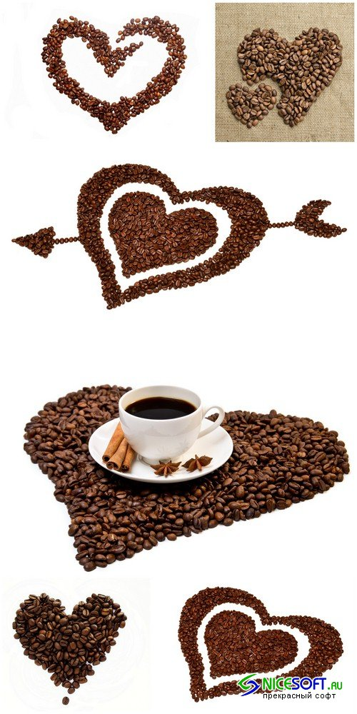 Heart of the coffee beans - 6 UHQ JPEG