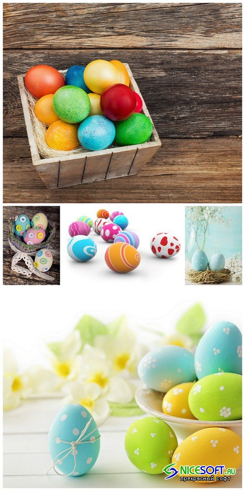 Easter eggs - 5 UHQ JPEG