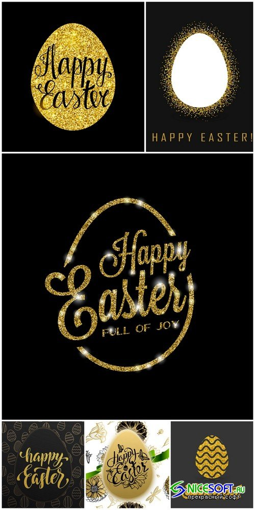 Happy Easter backgrounds - 6 UHQ JPEG