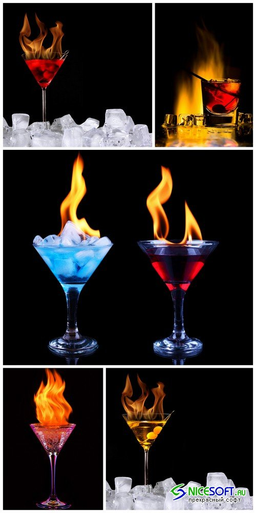 Cocktail ice and fire - 5 UHQ JPEG