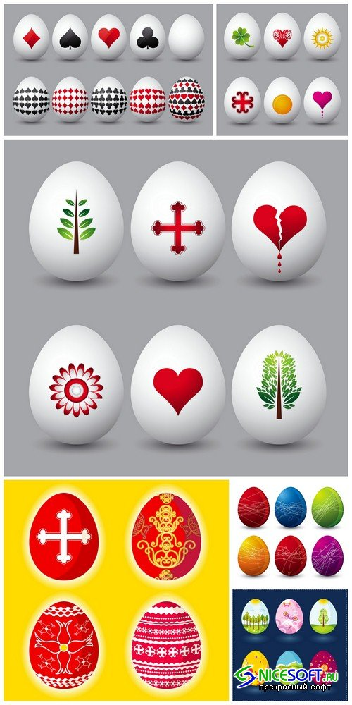 Easter eggs 3 - 6 UHQ JPEG