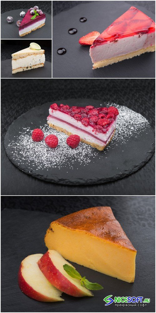 Piece of cake with fruits - 5 UHQ JPEG