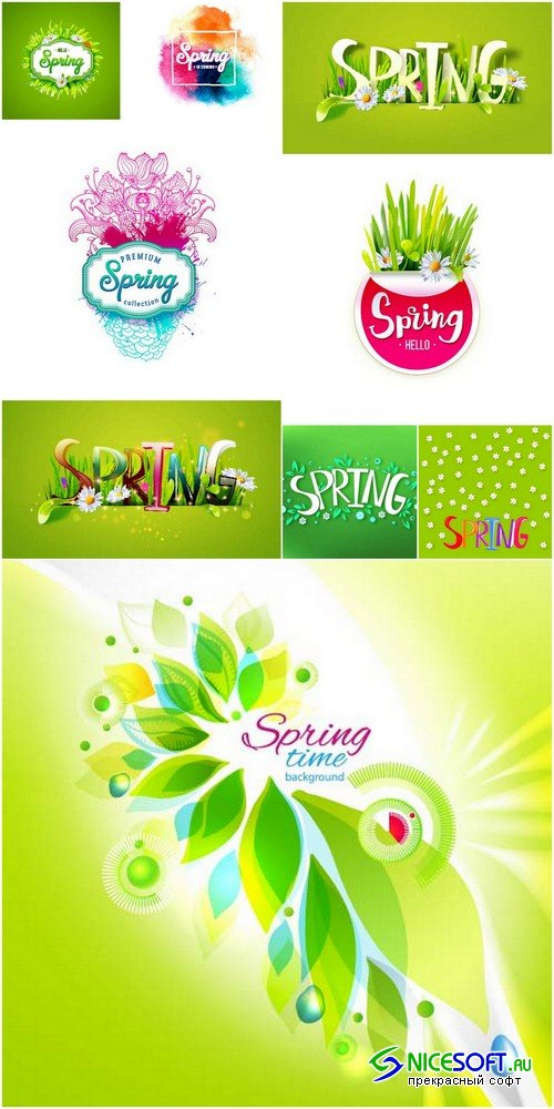 Spring background - 9 EPS