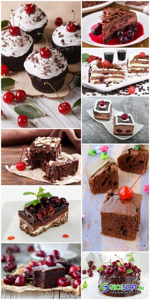Chocolate cherry cake - 9 UHQ JPEG