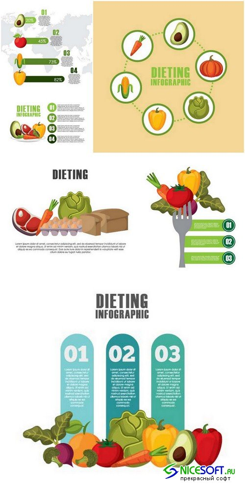Infographic dieting - 6 EPS
