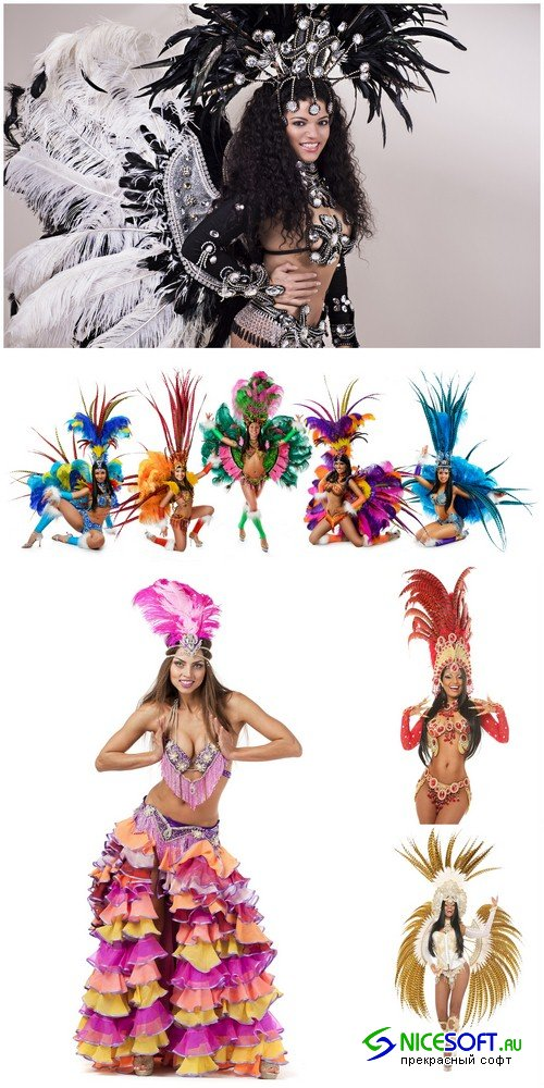 Brazilian girl in carnival costumes - 5 UHQ JPEG