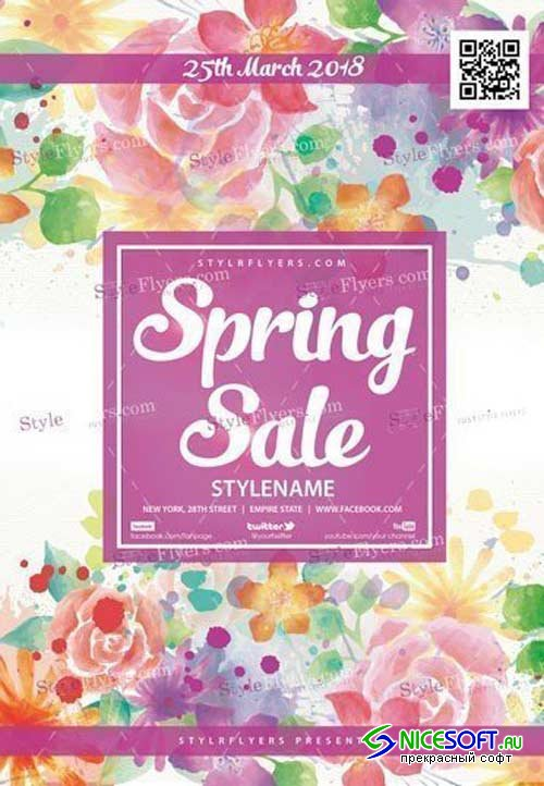 Spring Sale V5 2018 PSD Flyer Template