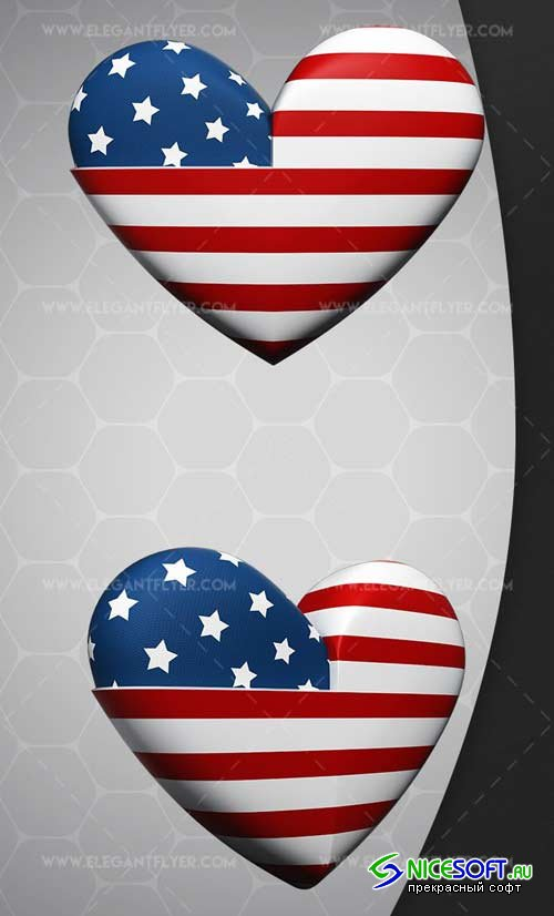 Heart USA V1 2018 3d Render Templates