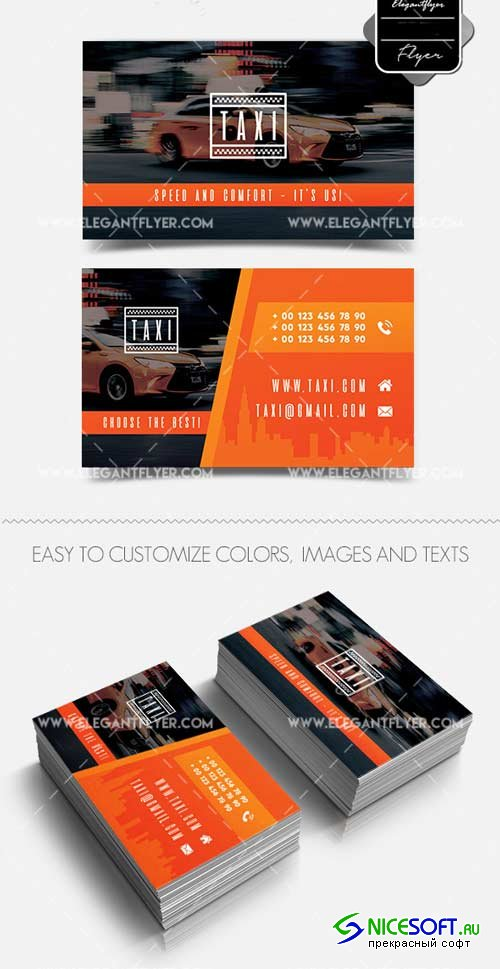 Taxi V1 2018 Business Card Templates PSD