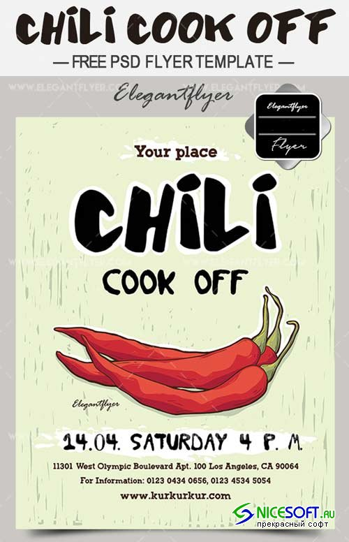 Chili Cook Off V4 2018 Free Flyer PSD Template