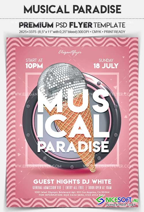 Musical Paradise V1 2018 Flyer PSD Template