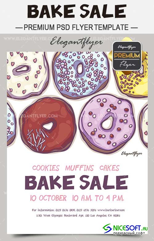 Bake Sale V1 2018 Flyer Template