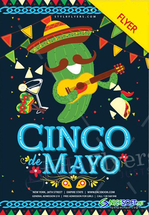 Cinco De Mayo V29 2018 Flyer PSD