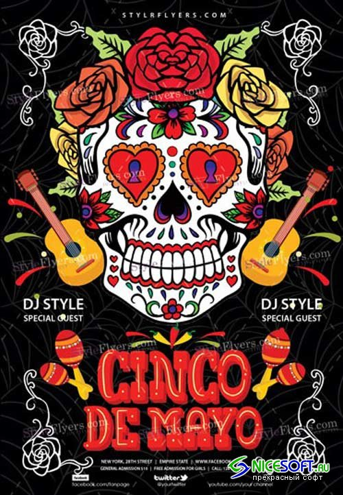 Cinco De-Mayo V22 2018 PSD Flyer Template
