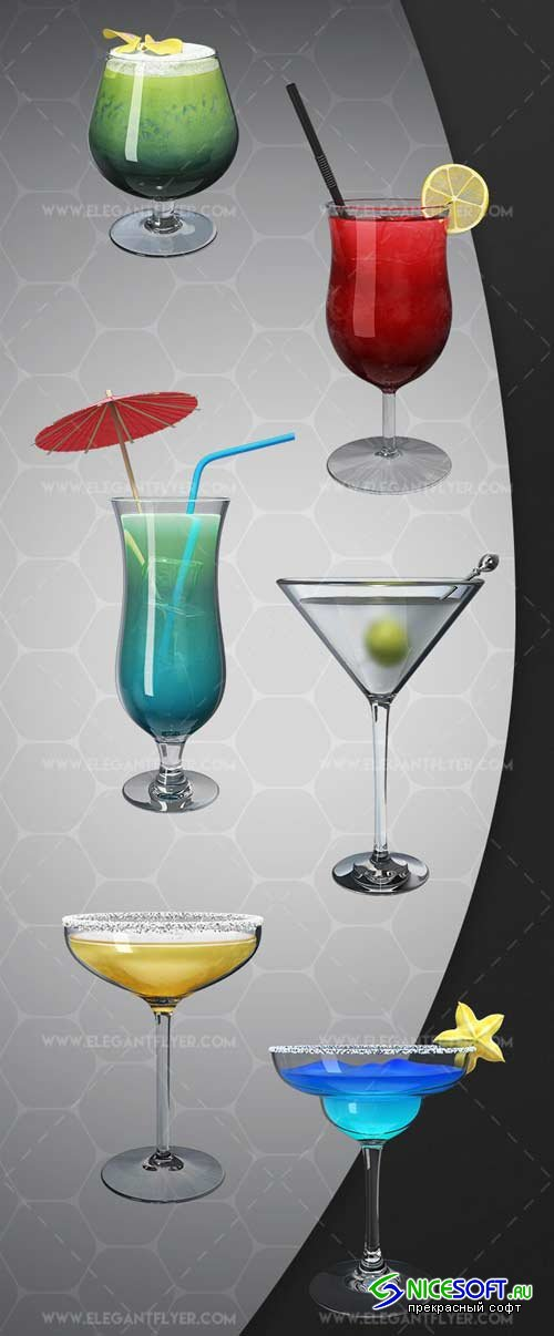 Cocktails V1 2018 Premium 3d Render Templates