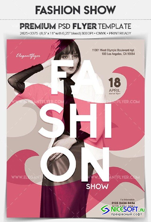 Fashion Show V1 2018 Flyer PSD Template