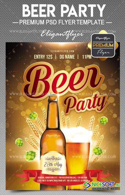 Beer Party V9 2018 Flyer PSD Template