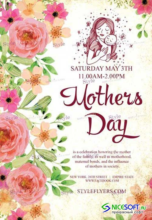 Mothers Day V18 2018 PSD Flyer Template