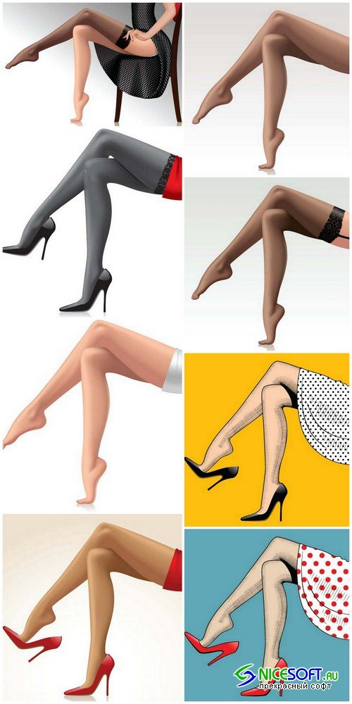 Female legs - 8 EPS