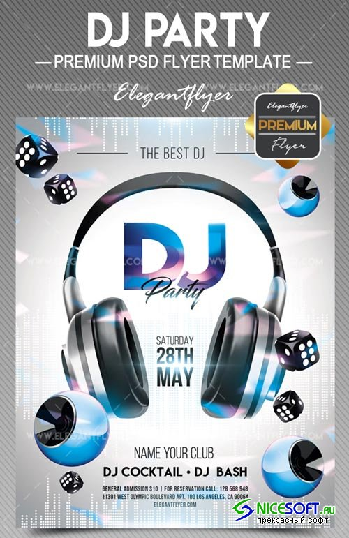 DJ Party V7 2018 Flyer PSD Template
