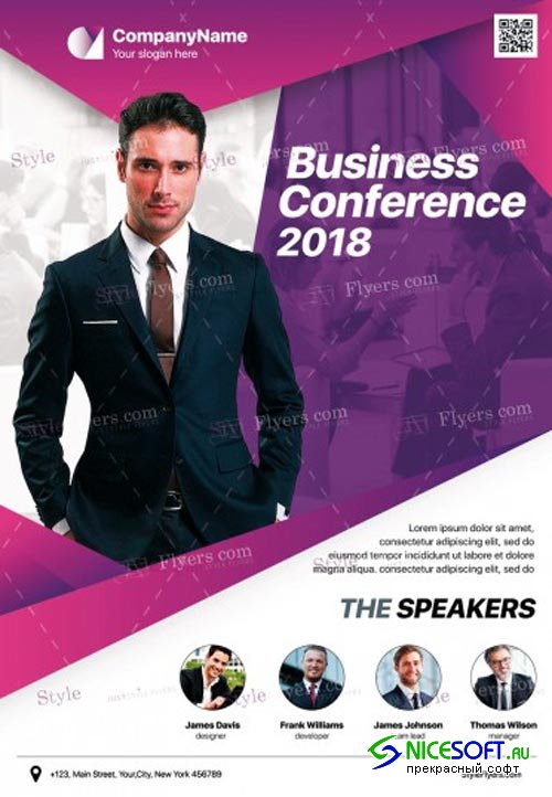Business Conference V3 2018 PSD Flyer Template
