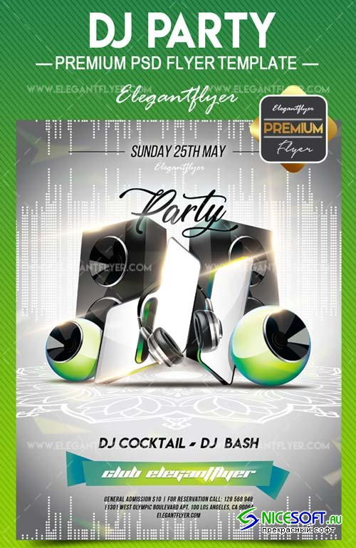 DJ Party 2018 Flyer PSD V7 Template