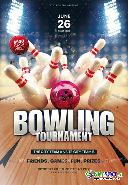 Bowling Tournament V7 2018 PSD Flyer Template