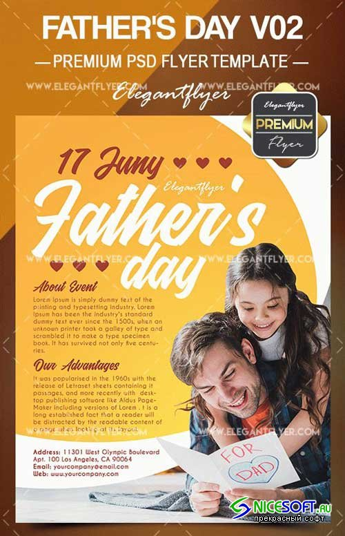 Father's Day V02 2018 Flyer PSD Template