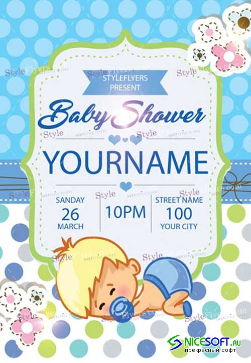 Baby Shower V11 2018 PSD Flyer Template