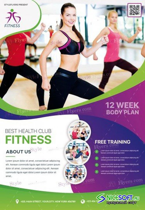 Fitness V15 2018 PSD Flyer Template
