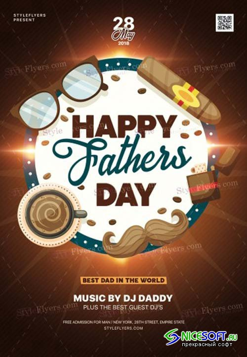 Fathers Day V19 2018 PSD Flyer Template